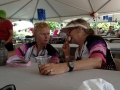 Lynda and Cheryl in the beer tent