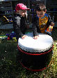 Two budding drummers