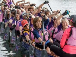Breast cancer survivors a picture of fitness and strength in dragon boat races