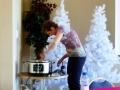 Janice stirring the turkey