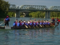 Paddling to the finish line