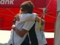 Heather gets a hug