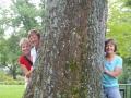 Joyce Sharlene Marilyn and a tree
