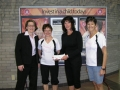 Cheque presentation to YMCA for Strong Kids Campaign