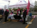 Setting Up at the Pink Pancake Breakfast