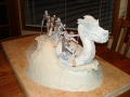 Draft model for the maquette 4
