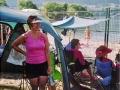 Watching the water skier challenge